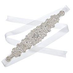 Remedios Vintage Rhinestone Crystal Bridal Wedding Sash Belt,Off-White, http://www.amazon.com/dp/B00IYJQIP0/ref=cm_sw_r_pi_awdm_8jNhwb0RR1DS1