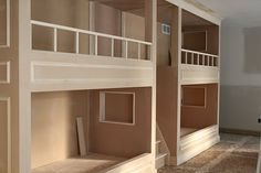 Bunk beds for basement bedroom - stack the great nieces and great nephews like firewood!