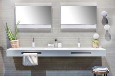 Kurk tilt een design badkamer naar een hoger niveau. #kurk #badkamer