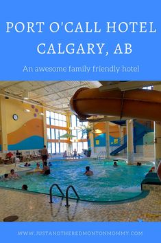 Travelling to Calgary, Alberta with the family? Waves Water Park at the Best Western Port O'Call hotel features over 8000 square feet of aquatic fun with 2 slides, 2 hot tubs, and a wading pool for younger kids. An awesome hotel for the whole family. Edmonton Hotels, Hotels In Calgary, Canada Travel, Travel Usa, Travel With Kids, Family Travel, Voyage Canada, Hotels For Kids, Discover Canada