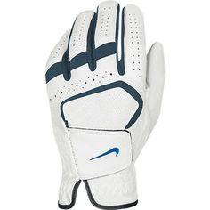 Nike Men's Dura Feel VII Regular White/Photo Blue Golf Glove - http://www.wholesalegolfer.com/golfer-golf-gloves/nike-mens-dura-feel-vii-regular-whitephoto-blue-golf-glove-4/