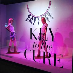 """SAKS FIFTH AVENUE, Eaton Centre, Toronto, Canada, """"Key to the Cure"""", pinned by Ton van der Veer"""