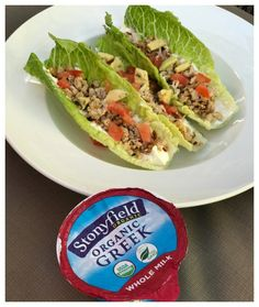 Turkey   Chickpea Lettuce Cups - a Healthy Summer Alternative | And Her Little Dog Too @stonyfield @taylorfarms
