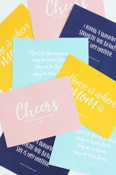 Mother's Day is right around the corner. Get our Mother's Day Card Free Printables on the blog to send to your mom and all you mama friends.