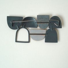 Seven shape Brooch | Contemporary Brooches by contemporary jewellery designer annabet wyndham