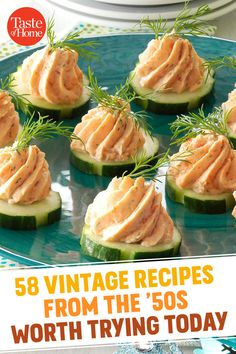 58 Vintage Recipes From the Worth Trying Today - Dehily Retro Recipes, Vintage Recipes, Gourmet Recipes, Appetizer Recipes, Cooking Recipes, Healthy Recipes, Appetizers, 1950s Recipes, Healthy Foods