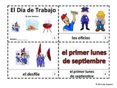 Spanish Labor Day 2 Emergent Reader Booklets - Día de Trabajo by Sue Summers - One with text and images, one with text only so students can sketch and create their own versions of the booklets.