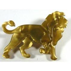 LEA STEIN BROOCH - THE GOLDEN LION