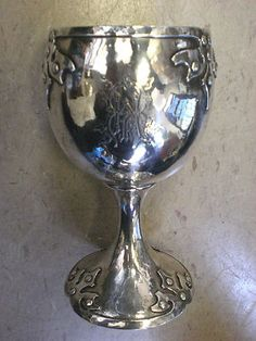 Vintage Sterling Silver Dragon Miniature Goblet