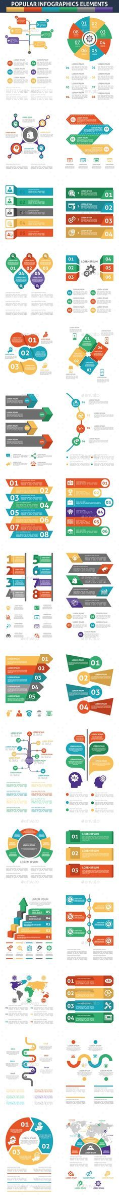 Popular Infographics Elements Templates PSD, Transparent PNG, Vector EPS, AI Illustrator