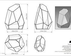 Printable pattern for creating a geometric glass box Tiffany style. Mosaic Glass, Glass Art, Art Deco Living Room, Industrial Design Sketch, Aquarium Design, Mood Light, Crystal Shapes, Glass Terrarium, Glass Boxes