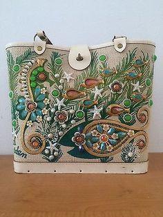 Exquisite-Vintage-Enid-Collins-Sea-Garden-Bucket-Purse-Handbag