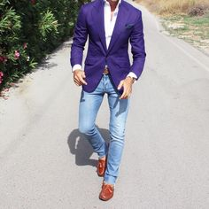 We've gathered our favorite ideas for Purple Blazer My Style Blazer Outfits Men Mens, Explore our list of popular images of Purple Blazer My Style Blazer Outfits Men Mens. Stylish Men, Men Casual, Smart Casual, Suit Fashion, Mens Fashion, Blazer Outfits Men, Purple Blazers, Suit Accessories, Dapper Men