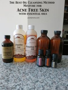 DIY Skin Care Recipes : best oil cleansing method mixture for acne free skin and essential oils purelytw
