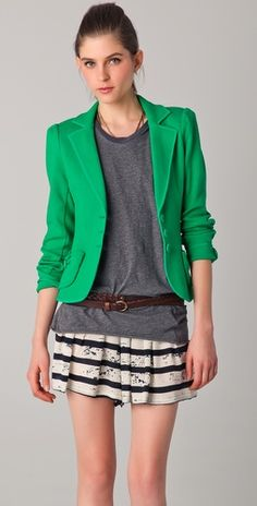 love the pop of green.