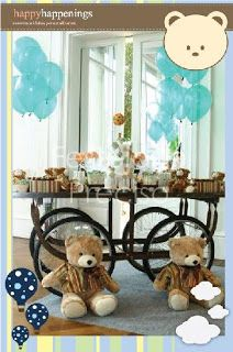 Party Frosting: Teddy Bear party ideas/inspiration