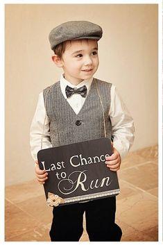 Last chance to run ring bearer wedding sign by VintageCreekStudio, $28.00