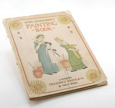 Kate Greenaway Painting Book Vintage antique by MoreLooseEnds, $39.00