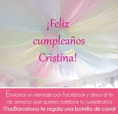 ¡Feliz cumpleaños Cristina!  #YouBarcelona
