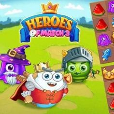 Free Match-3 Browser Game - Immerse yourself in the sweet world of Heroes of Match-3, a colorful match 3 game with a medieval atmosphere. Free Match, Match 3 Games, Princess Peach, Medieval, Colorful, Sweet, Fictional Characters, Candy, Mid Century