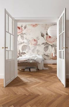 floral wallpaper mural idea design