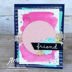 Design With Ink: It's a Needlepoint Nook Day! with Stampin' Up! Artisan Design Team Blog Hop! Gable Boxes, Tin Tiles, Beautiful Handmade Cards, Ink Pads, Embossing Folder, Needle And Thread, Some Fun, Fun Projects, Needlepoint