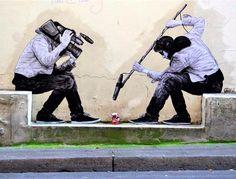 L'IRONIA URBANA DI LEVALET - Charles Leval, noto con lo pseudonimo di Levalet, è uno street artist francese - attivo a Parigi ma ormai noto a livello internazionale.