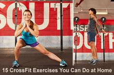 15 crossfit exercises you can do at home. People just don't have time to go to the gym with work and family pressures --- These are but a few exercises you can do at home.