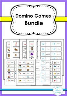 Domino Games Bundle includes the following: Alphabet Domino, Animals Domino, Clothes Domino,Compounds Domino,Food Domino, Numbers Domino,Opposites Domino,Plural or Singular Domino,Summer Domino, Time Domino