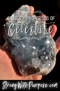 11 Uses & Properties of Celestite - When these chakras are open, you can feel a strong spiritual connectedness and experience profound emotional healing. Gems And Minerals, Crystals Minerals, Crystals And Gemstones, Stones And Crystals, Gem Stones, Crystal Magic, Crystal Healing Stones, Crystal Grid, E Mc2