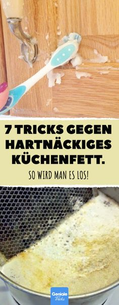 7 tricks against stubborn kitchen grease. # kitchen … - Home Cleaning Hacks House Cleaning Tips, Spring Cleaning, Br House, Bathroom Cleaning, Kitchen Cleaning, Diy Kitchen Storage, Kitchen Racks, Laundry Hacks, Storage Hacks