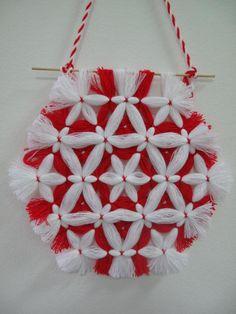 Martenitsa for the home. Baba Marta, Woolen Flower, International Craft, Crafts For Kids, Arts And Crafts, Mandala Artwork, Pom Pom Crafts, Home Board, My Heritage