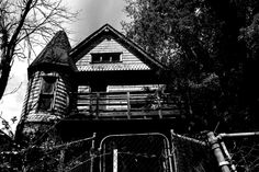Abandoned House. Salt Lake City Utah. Black and white. High Contrast. Photo by Harvey Brand Imagery