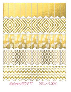 @planner.PICKETT: Gold Page Flags! YAY