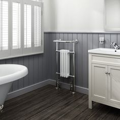 Choose from our stylish range of chrome towel rail radiators, in many sizes and with classic & modern chrome heated towel rail styles. Bathroom Radiators, Column Radiators, Bathroom Furniture, Traditional Towel Radiator, Traditional Radiators, Traditional Furniture, White Towel Rail, Chrome Towel Rail