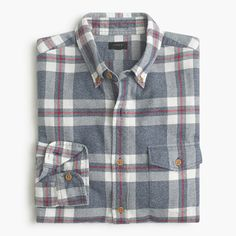 Twill shirts have a well-deserved rugged rep, but thanks to our specially brushed fabric, they're now known for having a soft side too. Destined to be a cool-weather classic, this one is accented with tough, fade-resistant Corozo nut buttons for authenticity.  <ul><li>Classic fit.</li><li>Cotton.</li><li>Button-down collar.</li><li>Camp pockets.</li><li>Machine wash.</li><li>Import.</li><li>Online only.</li></ul>