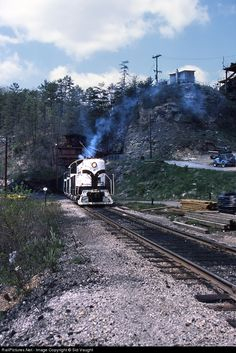 Kentucky & Tennessee Railroad Alco S2 at Stearns, Kentucky - Coal train with three units is loading at Justus Mine, the last operating mine on the road in Stearns, Ky.