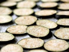 Eggplant Chips With Cilantro Pesto Recipe : - I'm not sure about the pesto recipe, cashew's aren't really a keto nut, but the eggplant chips could be paired with a sour cream dip.