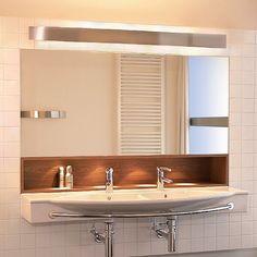 Spiegelleuchte Arlina T5 Aluminium, Master Bath, Bathroom Lighting, Mirror, Furniture, Home Decor, Google, Silver Ash, Light Fixtures