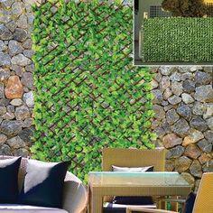 Faux Privacy Outdoor Ivy Expanding Garden Trellis