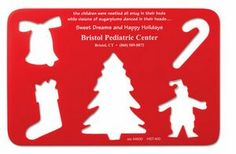Stock Holiday Stencil W/Christmas Cutouts - 1 Color