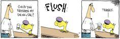 Canine happy hour. | Read The Duplex #comics @ http://www.gocomics.com/duplex/2015/04/09?utm_source=pinterest&utm_medium=socialmarketing&utm_campaign=social-pin | #GoComics #WebComic