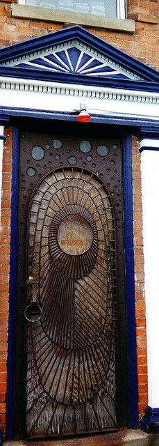 Gotham City door, 2001~ seems to be Ann Arbor ,Michigan????
