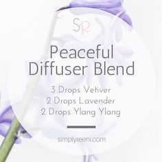 This is one of my favorite diffuser blends to use in the evening especially after a long and hectic day!✨ Vetiver: * Calming, grounding effect on emotions * Promotes feelings of calm * Is rich in sesquiterpenes, which gives it a grounding effect Lavender: * Lavender is widely used for its calming and relaxing qualities * This essential oil evokes positive feelings of self-awareness Ylang Ylang: * Promotes a calming, uplifting effect #Essentialoildiffusers