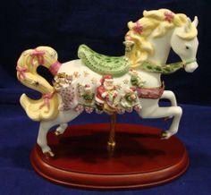 Lenox 2006 CHRISTMAS CAROUSEL HORSE mint condition RARE BOX & PAPERS #lenox #horse #carouselhorse #christmas #2006