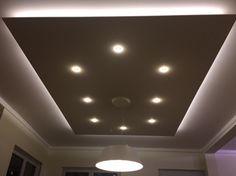 abgehängte Decke von Lisego - TOP-Alternative zu einer komplett abgehängten Decke. Auch mit indirekter LED Beleuchtung, individuell gestaltbar in verschiedenen Formen.