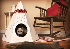 Design: The Native American Teepee  Materials: Cardboard (84% recycled content)  Designer: Maud Beauchamp and Marie-Pier Guilmain