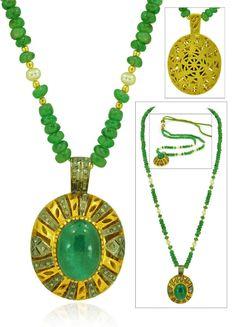 98CT Pave Diamond Natural Emerald Vintage India by BellaDAndalora
