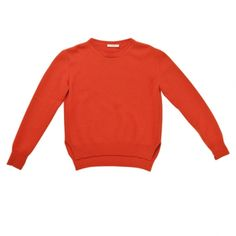 Orange cashmere sweater, CÉLINE