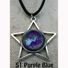 Galaxy of Stars Necklace Purple and Blue main by Fractured Infinity FracturedInfinity.etsy.com Space Jewelry, Star Necklace, Purple, Blue, Infinity, Stars, Etsy, Infinite, Sterne